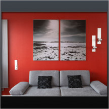 wallmax2 - Aluminiumrahmen mit Textildruck